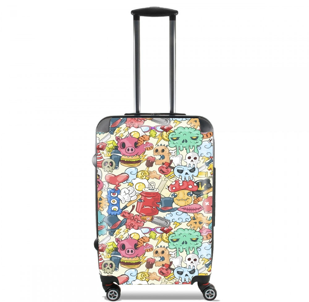 valise bagage cabine cartoon swag grafiti personnage. Black Bedroom Furniture Sets. Home Design Ideas
