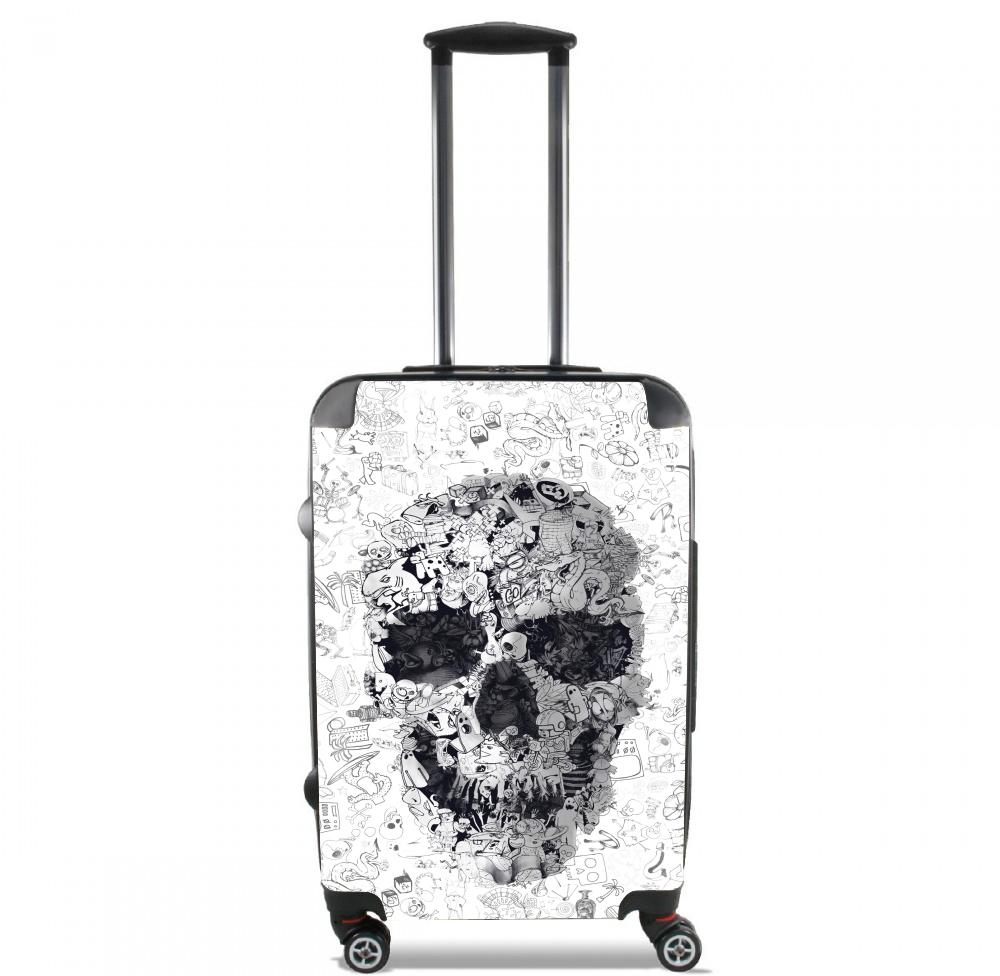 Doodle Skull for Lightweight Hand Luggage Bag - Cabin Baggage