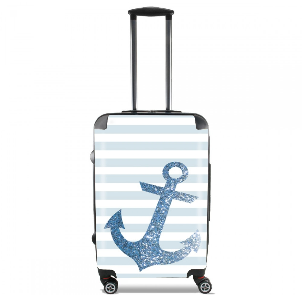 Blue Glitter Mariniere for Lightweight Hand Luggage Bag - Cabin Baggage