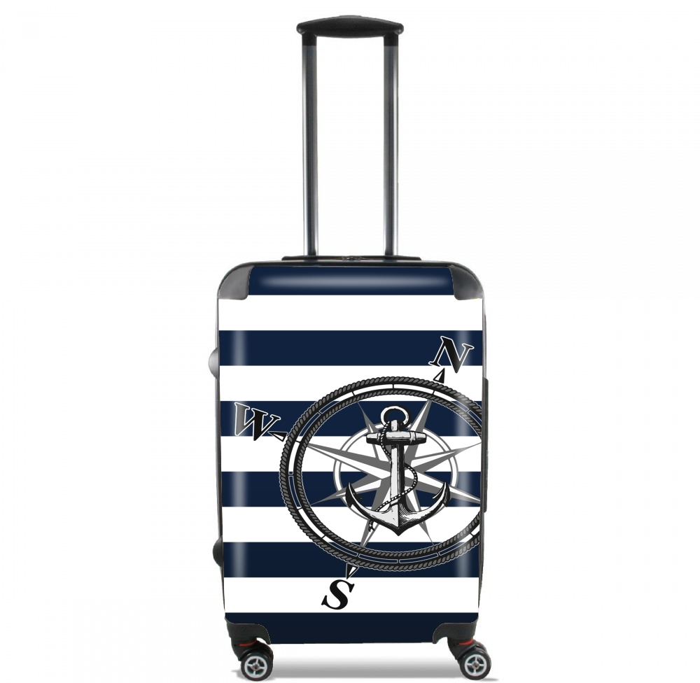 valise navy striped nautica cabine trolley personnalis e. Black Bedroom Furniture Sets. Home Design Ideas
