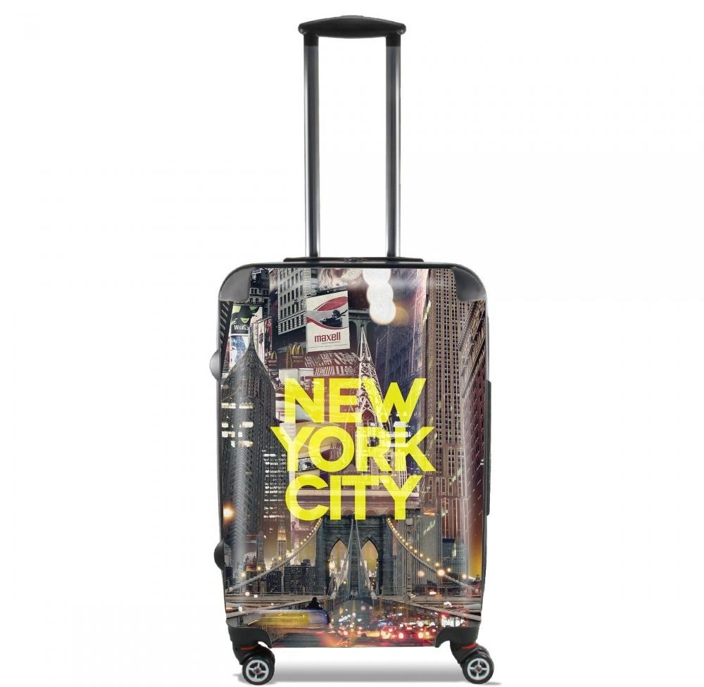 New York City II [yellow] for Lightweight Hand Luggage Bag - Cabin Baggage