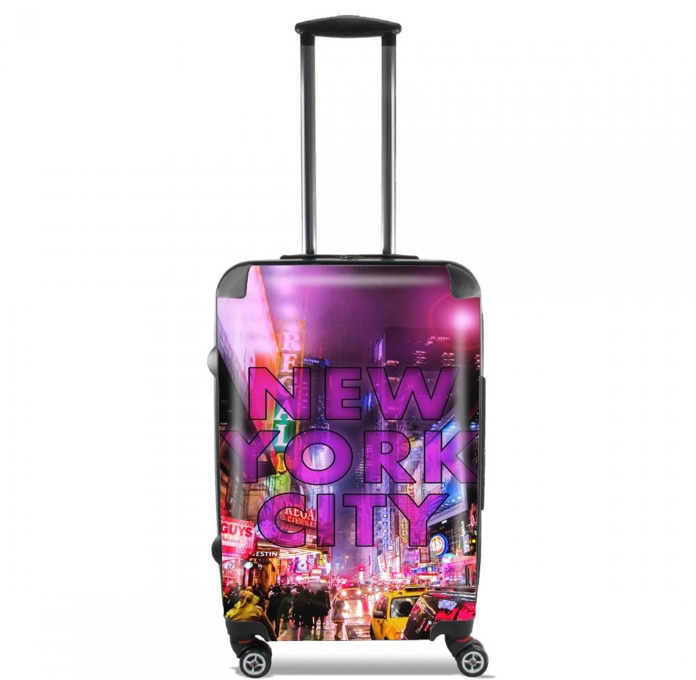 valise bagage cabine new york city broadway couleur rose. Black Bedroom Furniture Sets. Home Design Ideas