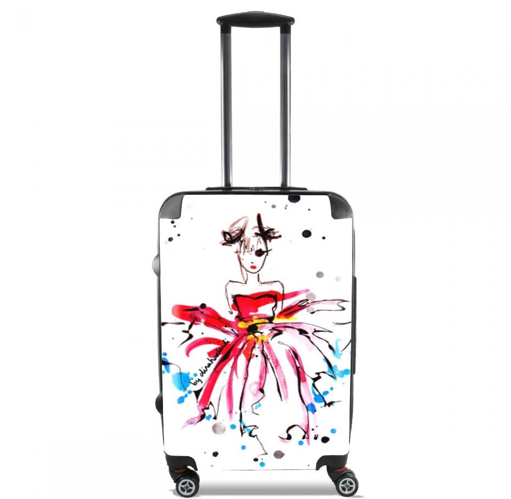 valise bagage cabine fashion girl rose. Black Bedroom Furniture Sets. Home Design Ideas