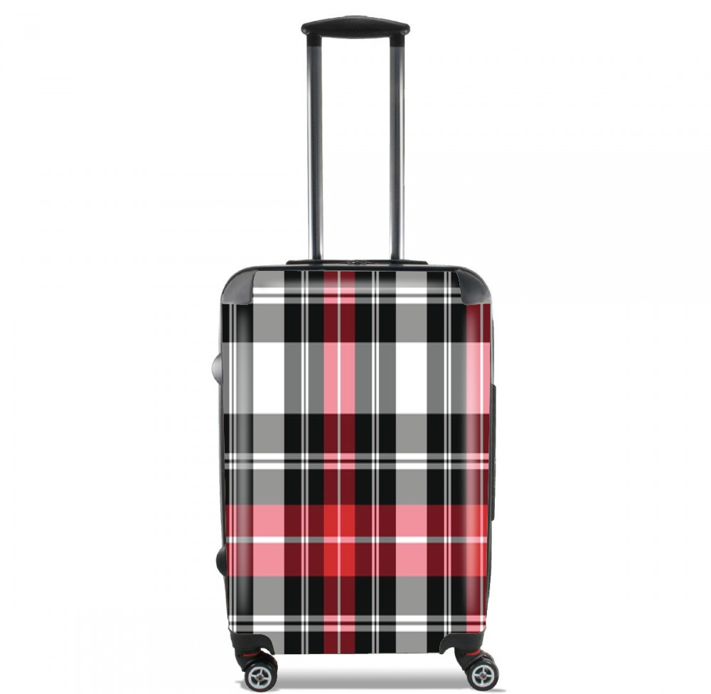 Red Plaid for Lightweight Hand Luggage Bag - Cabin Baggage