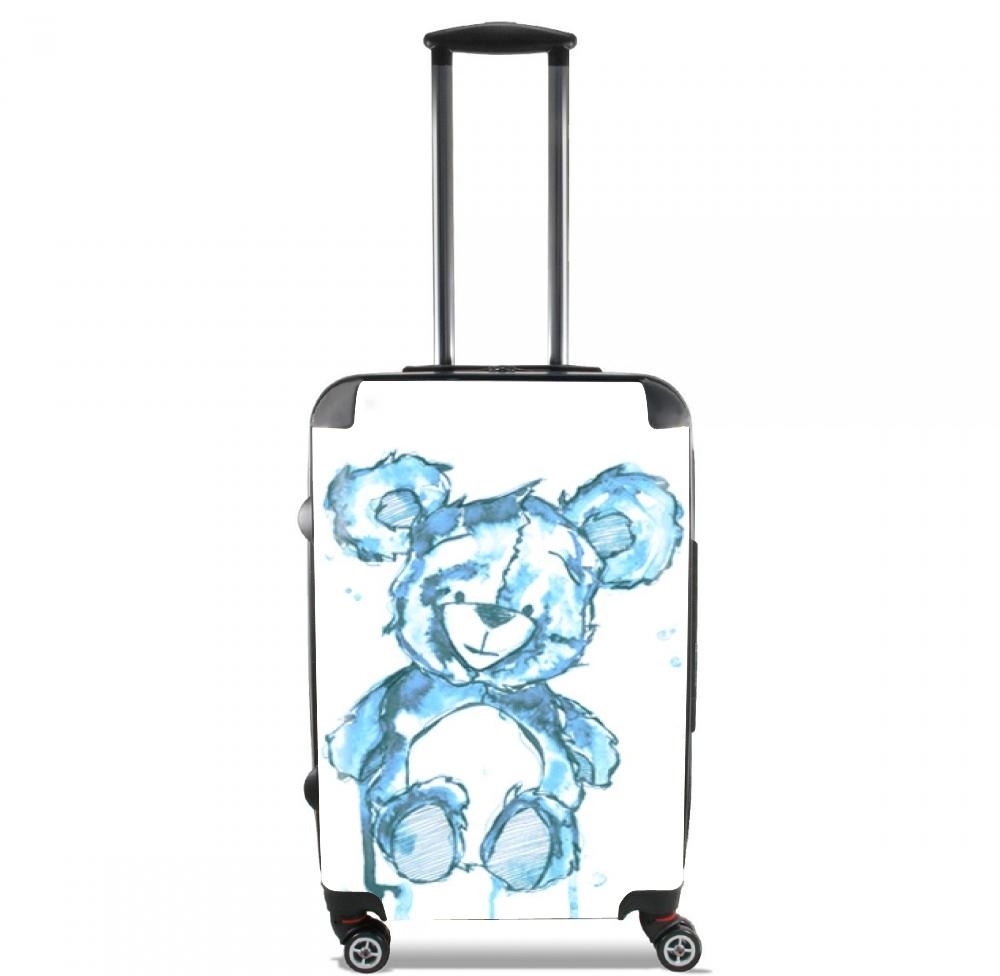 valise teddy bear bleu cabine trolley personnalis e. Black Bedroom Furniture Sets. Home Design Ideas