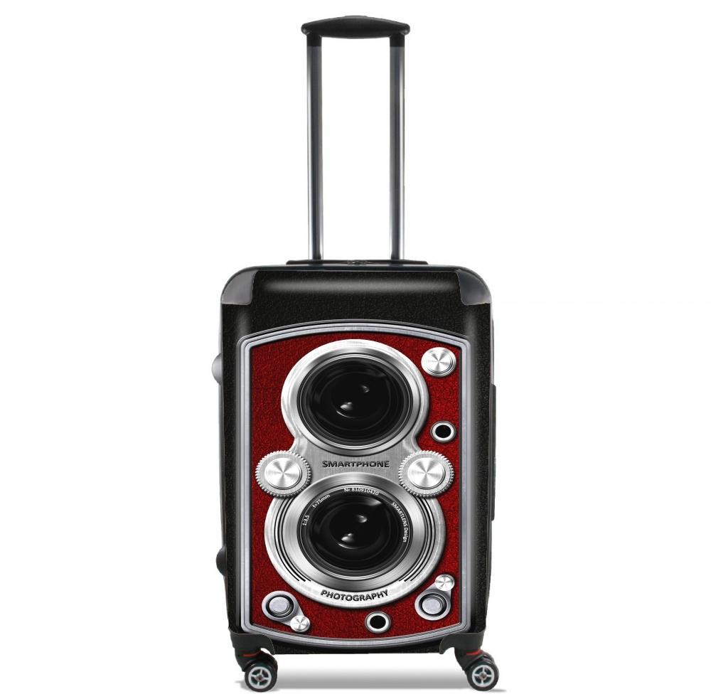 valise bagage cabine vintage camera red. Black Bedroom Furniture Sets. Home Design Ideas
