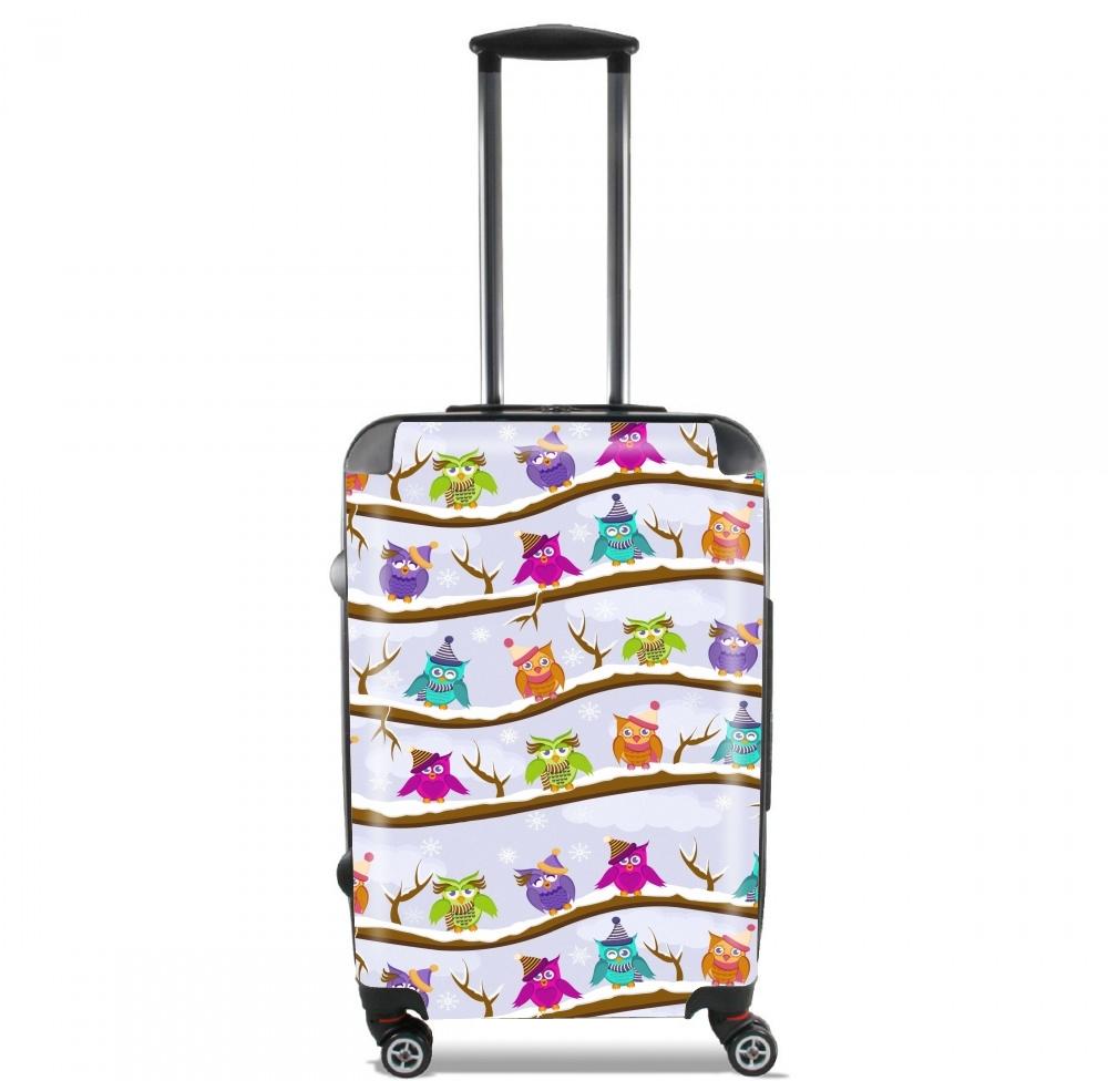valise hiboux en hiver cabine trolley personnalis e. Black Bedroom Furniture Sets. Home Design Ideas