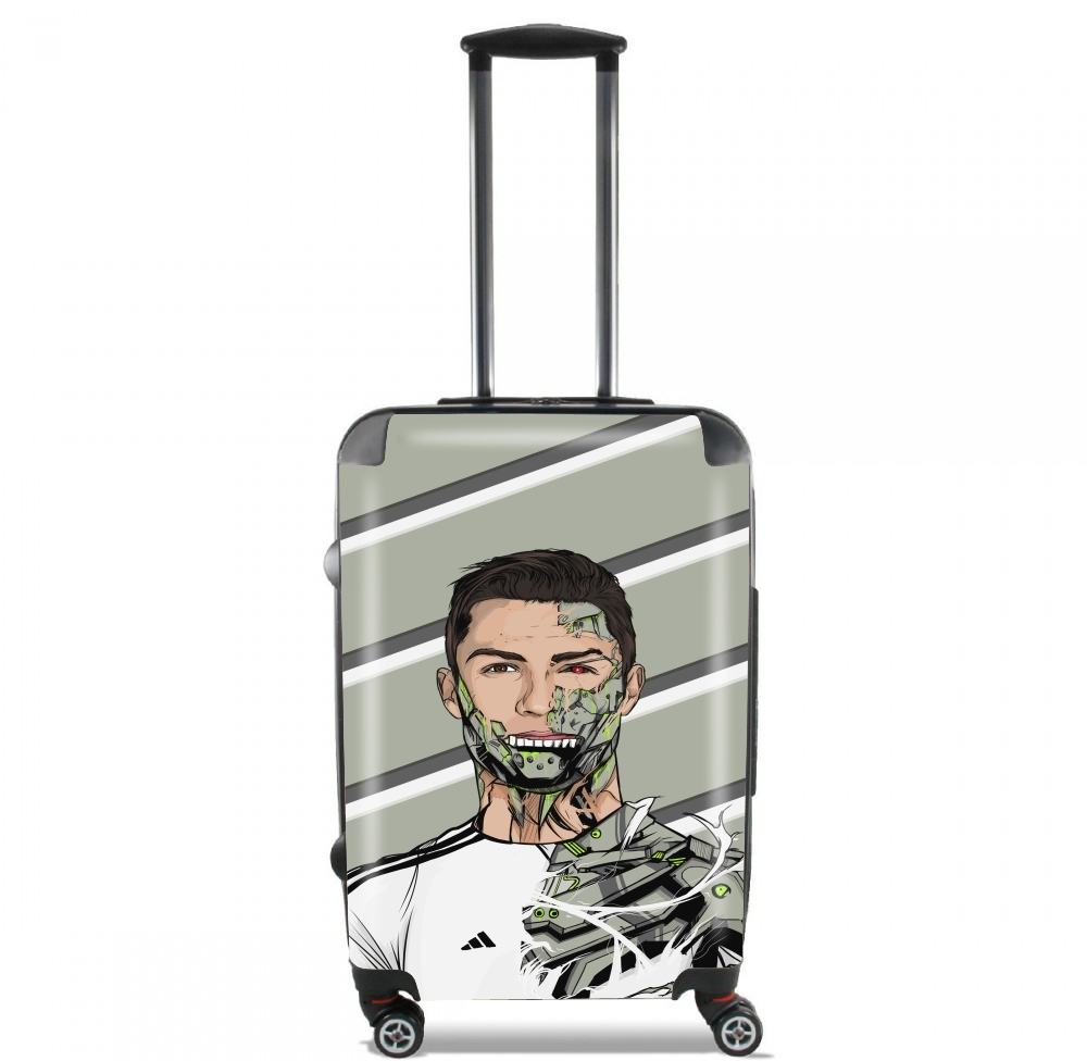 Valise trolley bagage xl football legends cristiano ronaldo real madrid robot - Housse de couette cristiano ronaldo ...